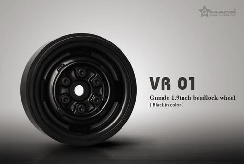 Gmade 70104 1.9 VR01 Beadlock Wheels (Black) (2)