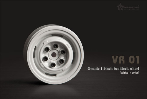 Gmade 70106 1.9 VR01 Beadlock Wheels (White) (2)