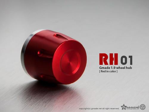 Gmade 70111 1.9 RH01 Wheel Hubs (Red) (4)