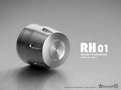 Gmade 70112 1.9 RH01 Wheel Hubs (Silver) (4)
