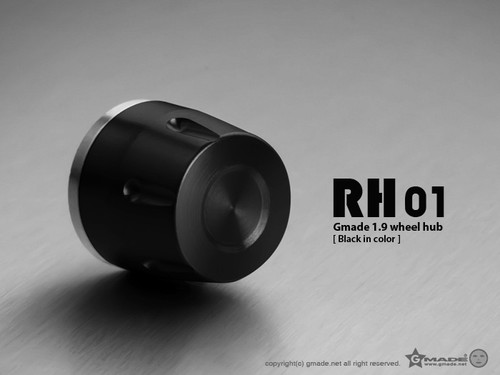Gmade 70114 1.9 RH01 Wheel Hubs (Black) (4)