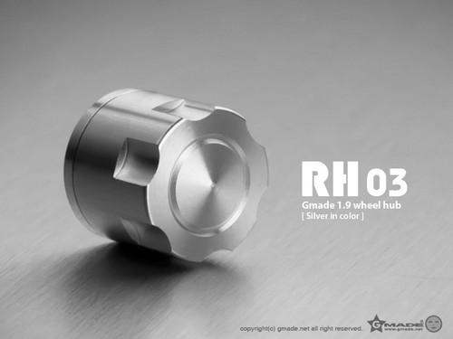 Gmade 70132 1.9 RH03 Wheel Hubs (Silver) (4)