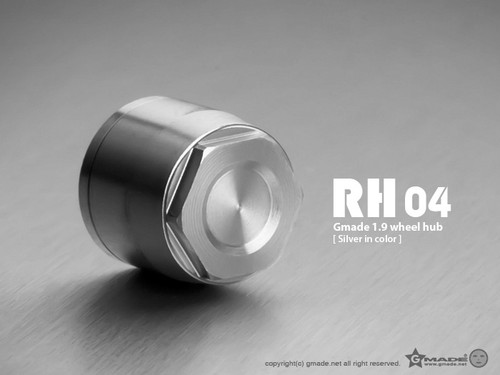 Gmade 70142 1.9 RH04 Wheel Hubs (Silver) (4)