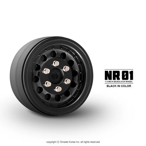 Gmade 70224 1.9 NR01 Beadlock Wheels (Black) (2)