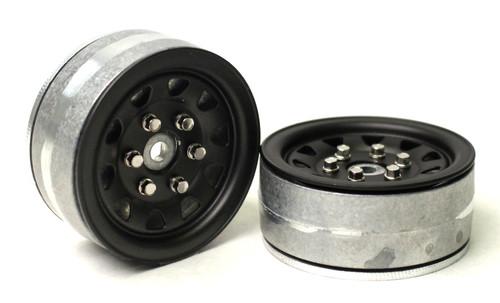 Gmade 70494 1.9 SR04 Beadlock Wheels (Matt Black)