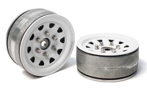 Gmade 70496 1.9 SR04 Beadlock Wheels (Gloss White) (2)