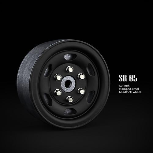 Gmade 70504 1.9 SR05 Beadlock Wheels (Matt Black) (2)