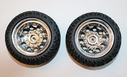 DHK Hobby 8141-003 Tires, Mounted on Chrome Wheels Raz-R 2 (2pcs)