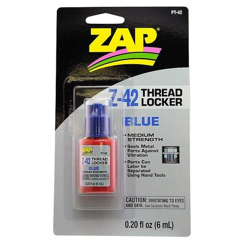 ZAP Glue PT-42 Zap Z-42 Blue Thread Locker 0.2oz Bottle