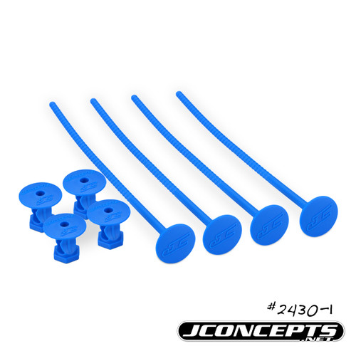 J Concepts 24301 1/10th Off-Road Tire Stick, Holds 4 Mounted Tires, Blue