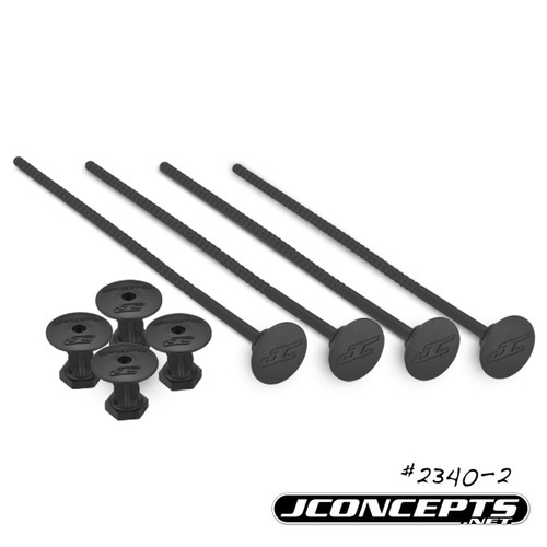 J Concepts 24302 1/10th Off-Road Tire Stick, Holds 4 Mounted Tires, Black