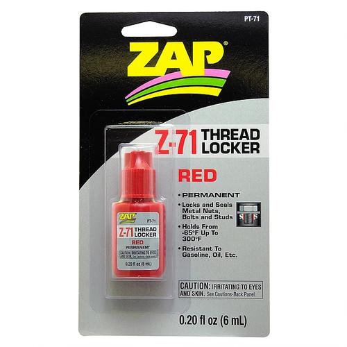 ZAP Glue PT-71 Zap Z-71 Red Thread Locker 0.2oz Bottle