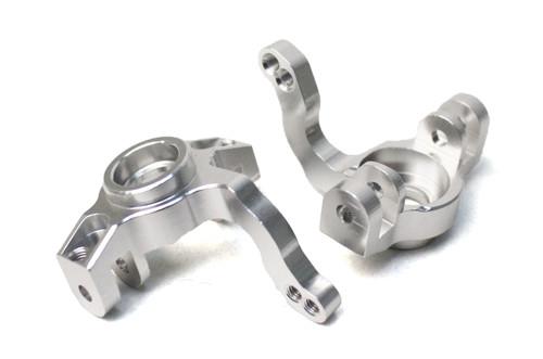 Racers Edge 1860S 1/10 Yeti Aluminum Front Steering Knuckles (pr) -Silver