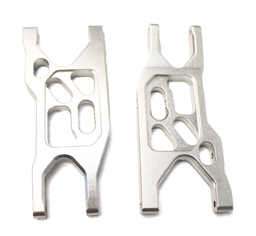 Racers Edge 1863S 1/10 Yeti Aluminum Front Suspensions Arms (pr.)-Silver