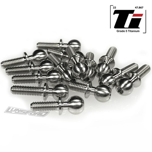Lunsford Racing 7707 5.5mm Broached Titanium Ball Stud Kit for RC10B74 (14)
