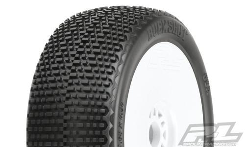 Proline Racing 906232 Buck Shot M3 (Soft) Off-Road Buggy Tires, Mounted on V2