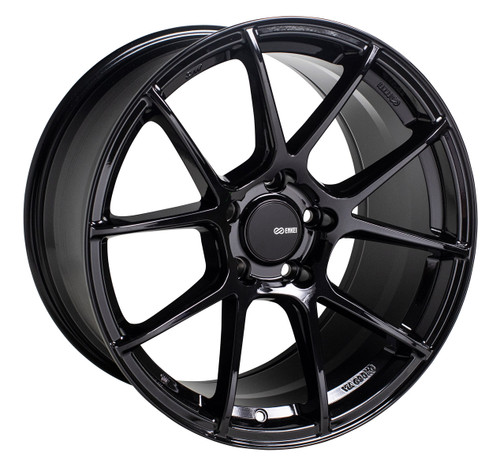 Enkei 522-885-1238BK TS-V Gloss Black Tuning Wheel 18x8.5 5x120 38mm Offset 72.6mm Bore