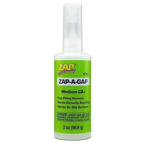 ZAP Glue PT-01 Zap-A-Gap CA+ Glue 2oz