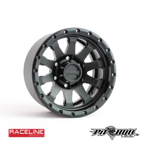 Pit Bull Tires PBW19CLBB 1.9 Raceline Clutch Aluminum Beadlock Wheels, Black, (4)