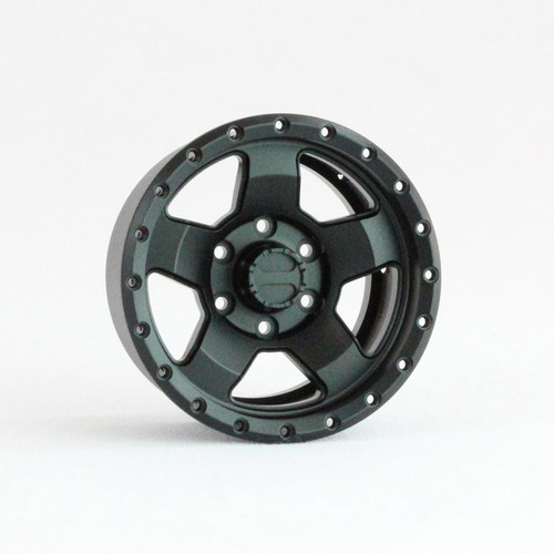 Pit Bull Tires PBW19CMBB 1.9 Raceline Combat Aluminum Wheels, Black, (4)