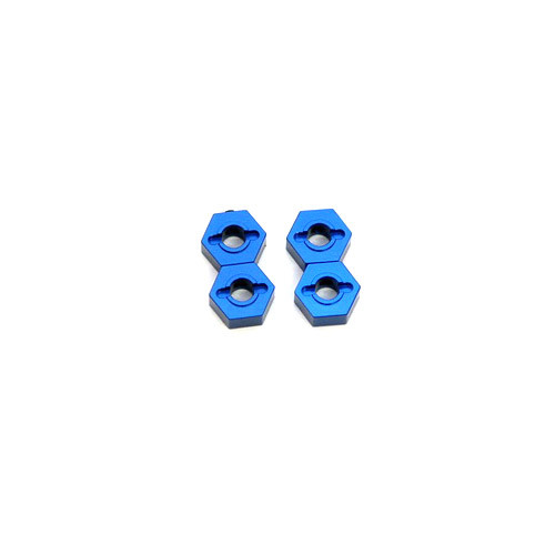 ST Racing Concepts ST1654B ALUMINUM HEX ADAPTERS FOR SLASH 4X4 (BLUE)