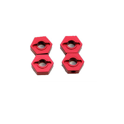 ST Racing Concepts ST1654R ALUMINUM HEX ADAPTERS FOR SLASH 4X4 (RED)