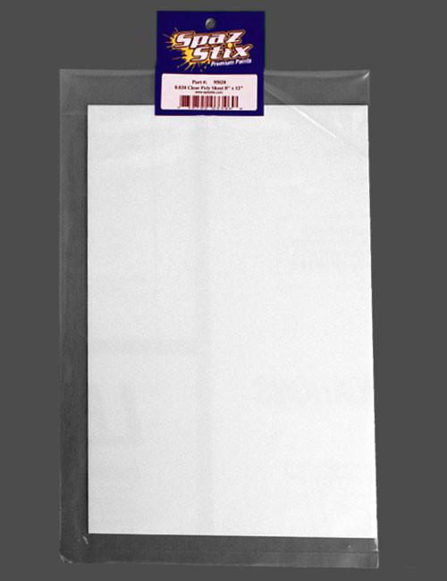 """Spaz Stix 95030 0.030 CLEAR POLY SHEET 8X12"""""""