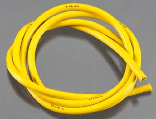 TQ Wire 1136 10 Gauge Super Flexible Wire - Yellow 3'