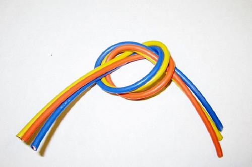 TQ Wire 1304 13 Gauge Super Flexible Wire- 1' ea. Blue, Yellow, Orange