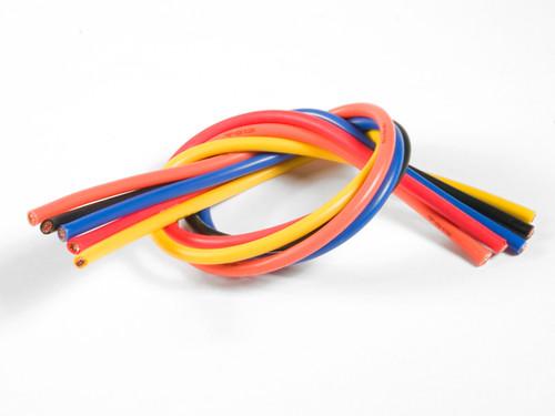 TQ Wire 1305 13 Gauge Super Flexible Wire- 1' ea. Black, Red, Blue,