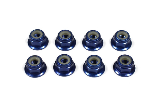 Tuning Haus 1074 4mm Aluminum Locknut-Flanged (8) Dark Blue