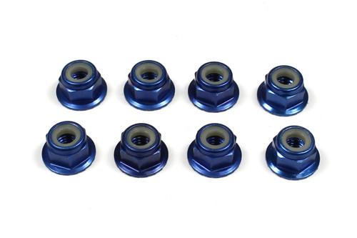 Tuning Haus 1080 4mm Aluminum Locknut-Flanged Knurled (8) Dark Blue