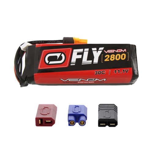 Venom Racing 25049 Fly 30C 3S 2800mAh 11.1V LiPo Battery w/Uni 2.0 Plug