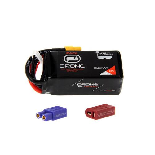 Venom Racing 35053 50C 3S 850mAh 11.1V Drone Raci LiPo with Universal 2.0 Plug