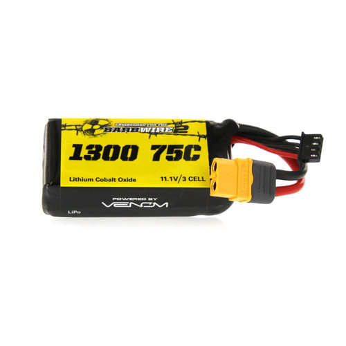 Venom Racing 45075 75C 3S 1300mAh 11.1V LiPo Battery