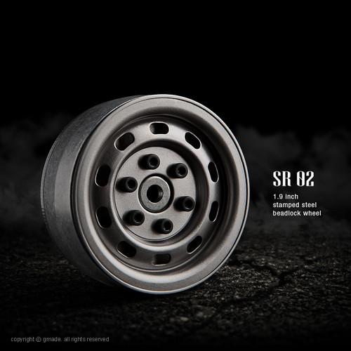 Gmade 70177 1.9 SR02 Beadlock Wheels (Uncoated Steel) (2)