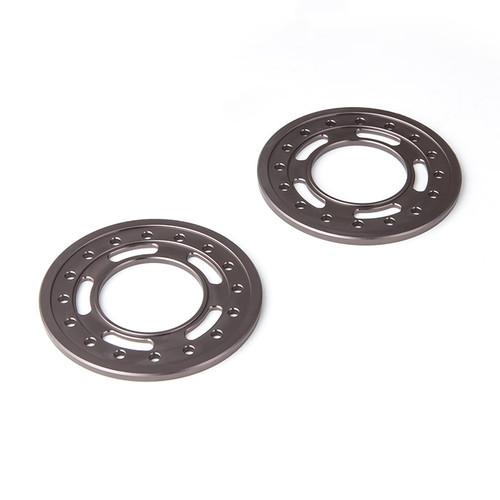 Gmade 70537 1.9 Aluminum Ring Beadlock Ring ST (Gun Metal) (2): GOM