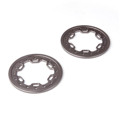 Gmade 70547 1.9 Aluminum Ring Beadlock Ring CL (Gun Metal) (2): GOM