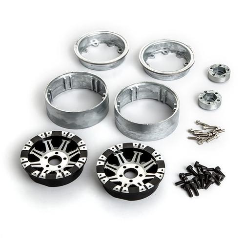 "Gmade 70554 1.9"" AR09 5 Lug Aluminum Beadlock Wheels (2)"
