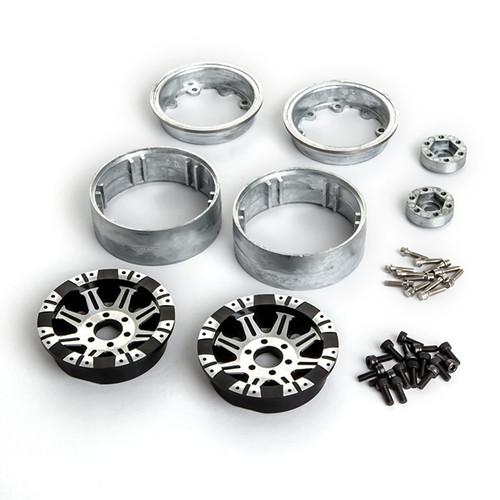 Gmade 70564 1.9 AR09 6 Lug Aluminum Beadlock Wheels (2)