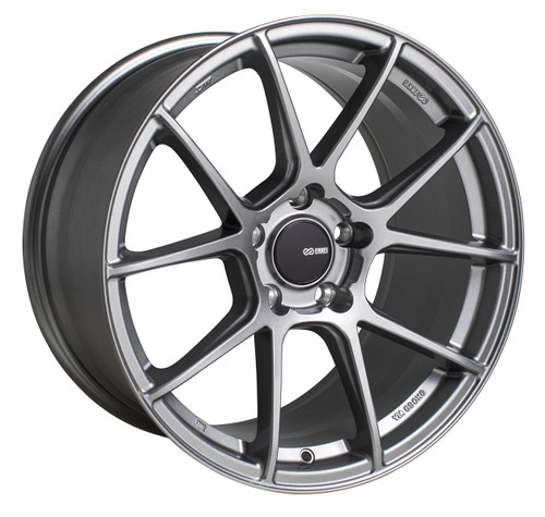 Enkei 522-885-6538GR TS-V Storm Grey Tuning Wheel 18x8.5 5x114.3 38mm Offset 72.6mm Bore