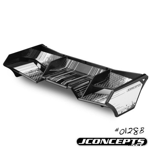 J Concepts 0128B 1/8th Buggy/Truck Wing with Gurney Options (Black)