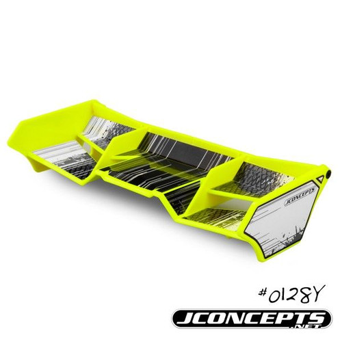J Concepts 0128Y 1/8th Buggy/Truck Wing, with Gurney Options (Yellow)