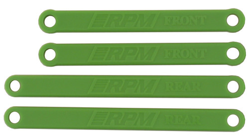 RPM R/C Products 81264 HEAVY DUTY CAMBER LINKS FOR E-RUSTLER & E-STAMPEDE - GREEN
