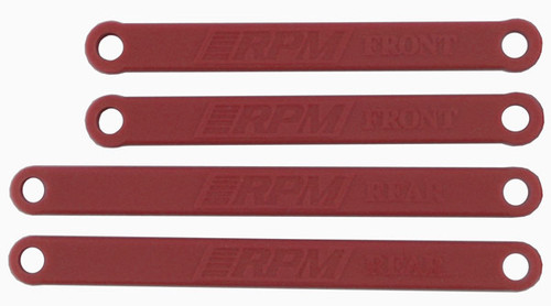 RPM R/C Products 81269 TRAXXAS HEAVY DUTY CAMBER LINKS-RED