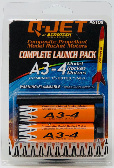 Quest Rockets 6108 A3-4 (2-pack) Model Rocket Motors