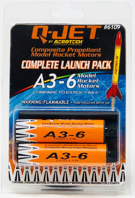 Quest Rockets 6109 A3-6 (2-pack) Model Rocket Motors
