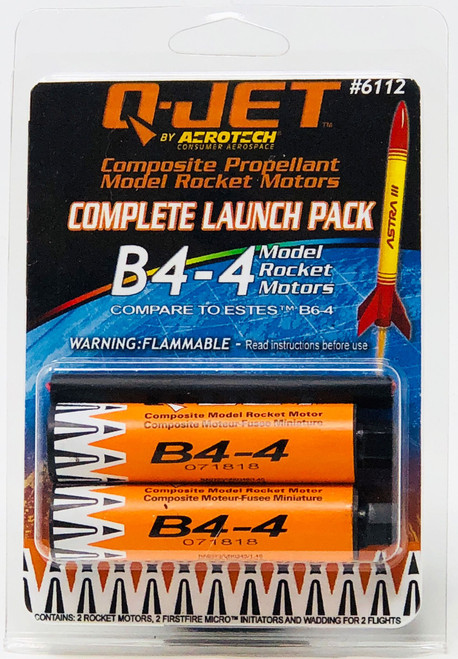 Quest Rockets 6112 B4-4 (2-pack) Model Rocket Motors