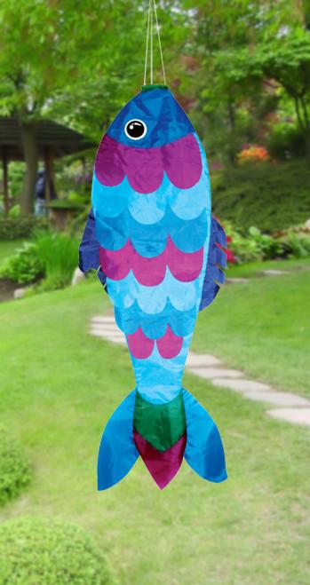 "Skydog Kites 42705 36"" Blue Fish Windsock"