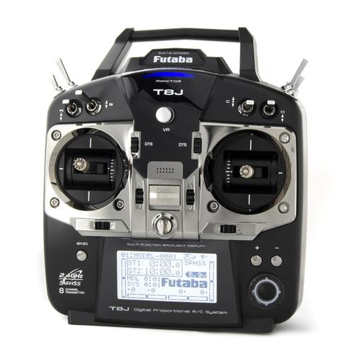 Futaba 01004369-3 T8J H 2.4GHz S-FHSS Heli Spec Radio System w/R2008SB